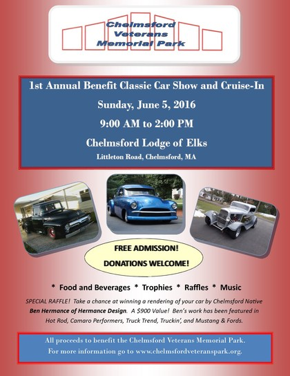 Chelmsford Veterans Park Car Show Fundraiser