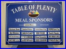 Table of Plenty Meal Sponsors
