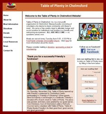 The Table of Plenty Website