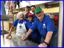 TOP Chefs, Back Row:  Jim Meenaghan and Doug Drake, Front Row:  Mel Starr, Sue MacDonald, and Paul Windt
